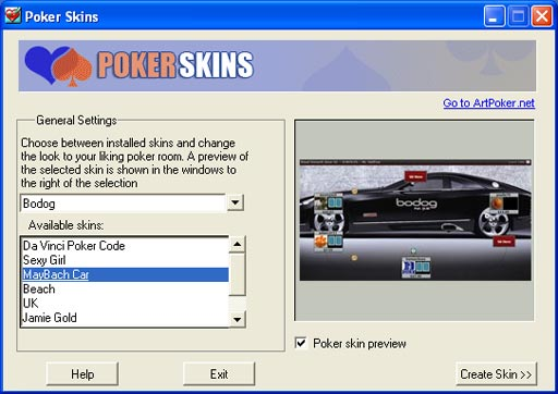 bodog-Poker-choose-skins