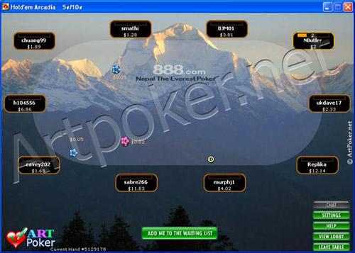 888 Poker Skins