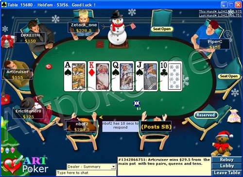 Christmas Poker Skin