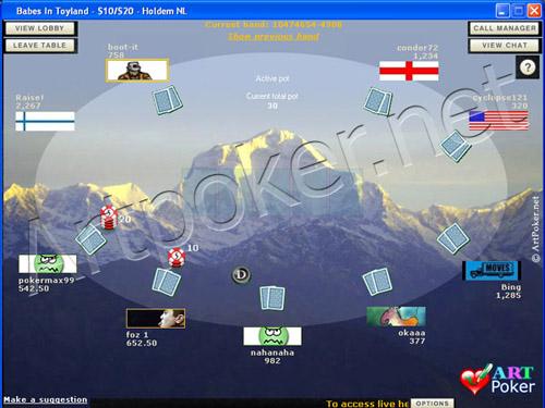 Blue Square Poker Theme