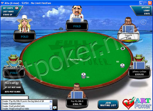 Full Tilt Poker  - Poker On a Beach Backgrounds