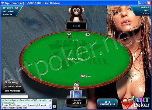 Full Tilt Poker Themes - Jessica Simpson Background