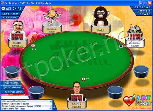Full Tilt Poker Theme -  Flowers Skin