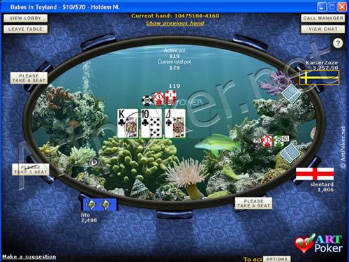 Blue Square Poker Themes