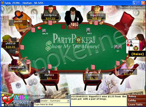 PartyPoker - In the Money