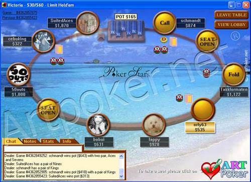 Poker Stars - Poker On The Beach