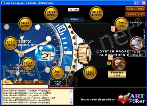 Poker Stars.com - Rolex Background