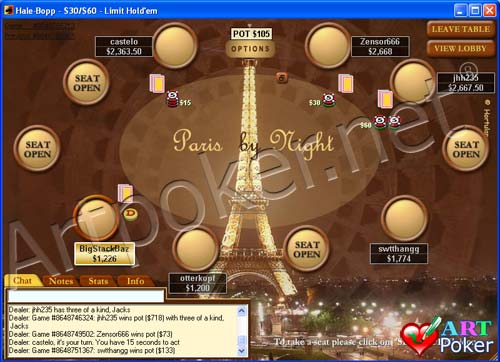 paris at night backgrounds. PokerStars - Paris By Night