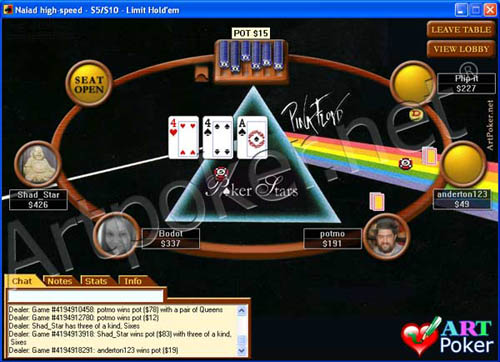 PokerStars Skin - Pink Floyd Background