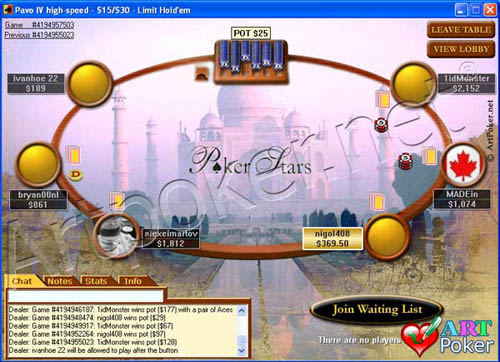 PokerStars Themes  Taj Mahal - India