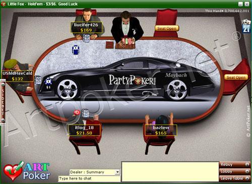 Party Poker - Maybach Skin