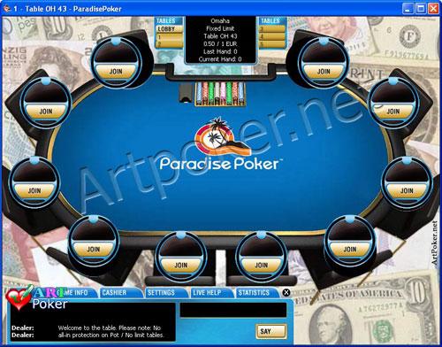 Paradise Poker Skin