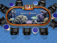 Absolute Poker  Skins - Aqua background