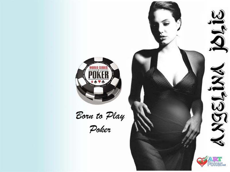 Angelina Jolie's Pregnancy - Born to play poker