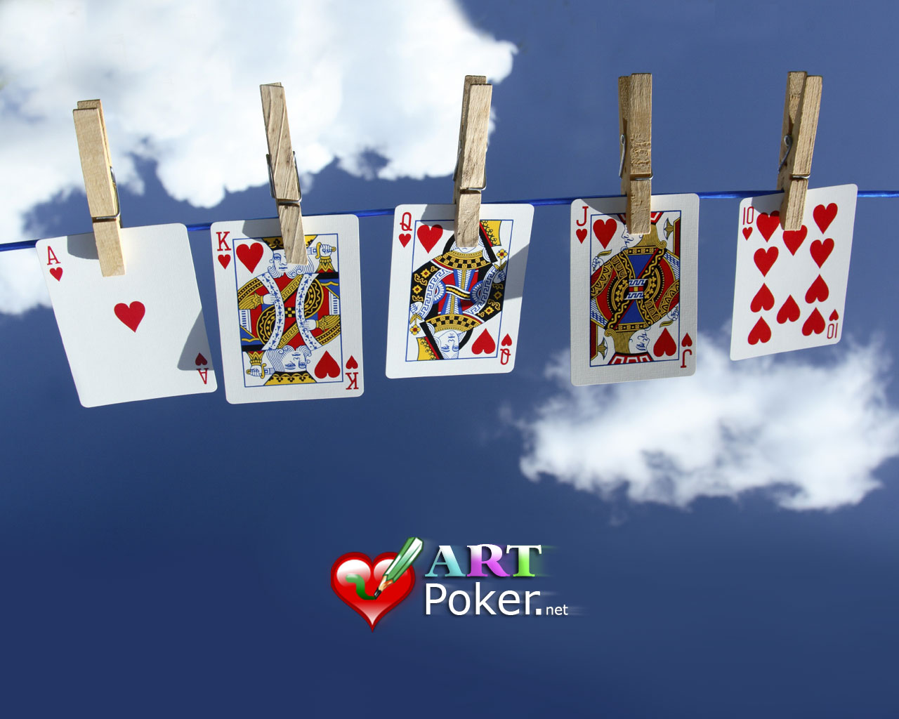 hanging poker cards