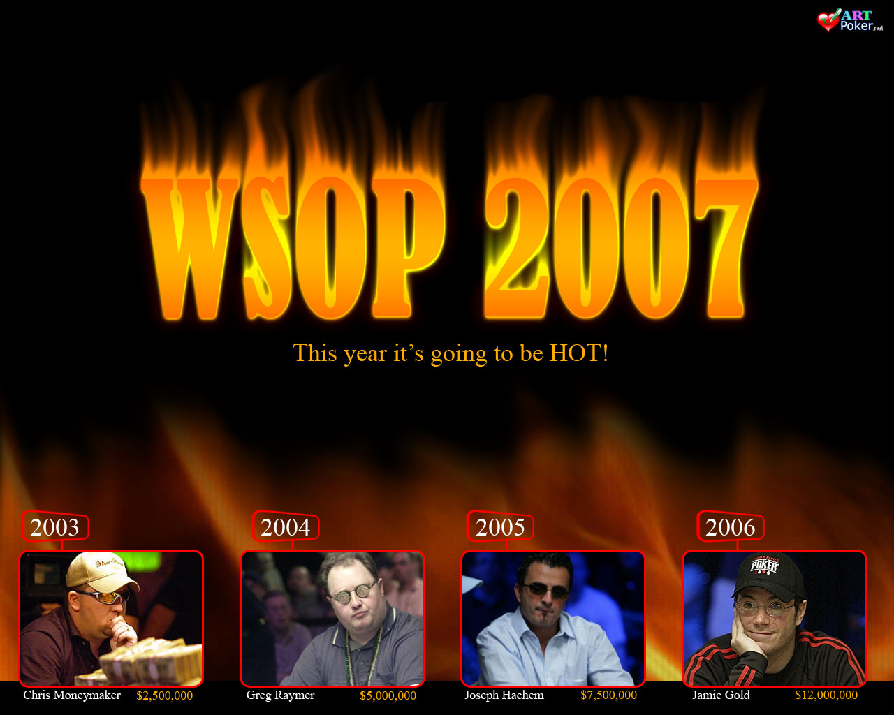 WSOP 2007 Main Event - The Winners 1280x1024