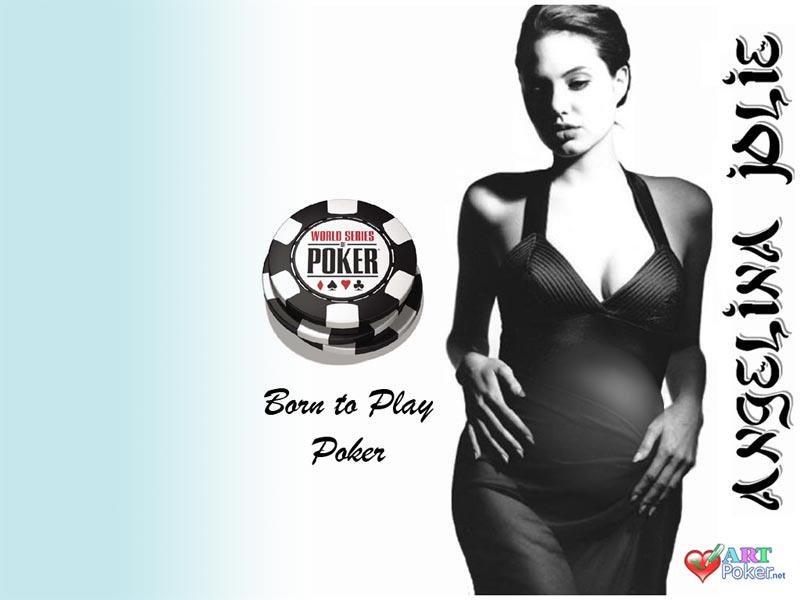 Angelina Jolie's Pregnancy - Born to play poker